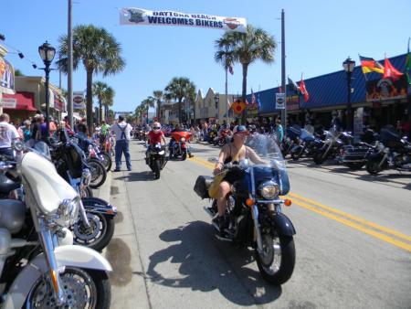 Woman Rider Daytona Bike Week