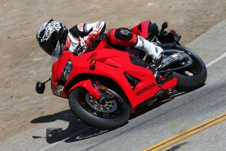 2013 Honda CBR600RR Action Cornering