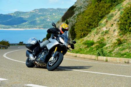 2013 Aprilia Caponord 1200 Action Cornering