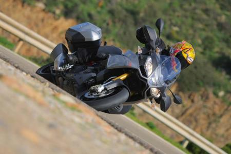 2013 Aprilia Caponord 1200 Left Turn