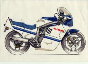 1985 Suzuki GSX-R750 Final Sketch
