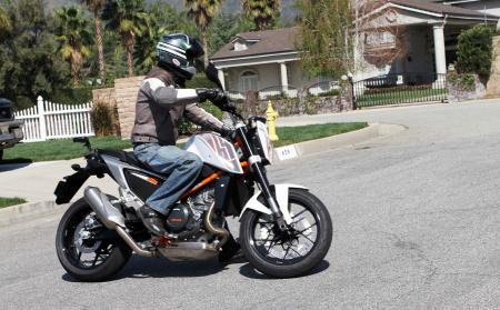 2013 KTM 690 Duke right action