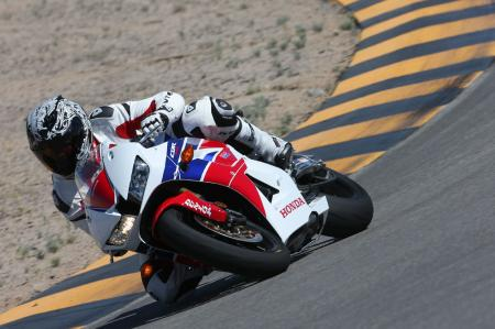 2013 Honda CBR600RR Track Cornering Right WING4990