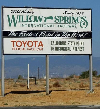 2013 Corsa Moto Classica Willow Springs Sign