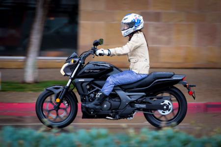 2014 Honda CTX700N Left Side Action 2