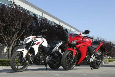 2013 Honda CB500F and CBR500R
