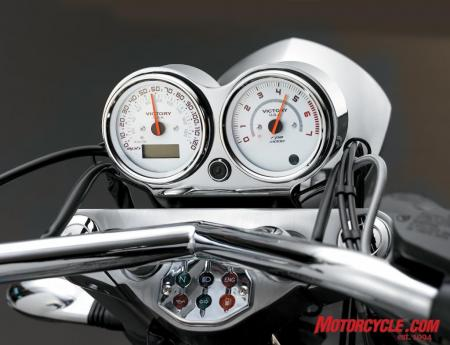 08 victory chrome tach