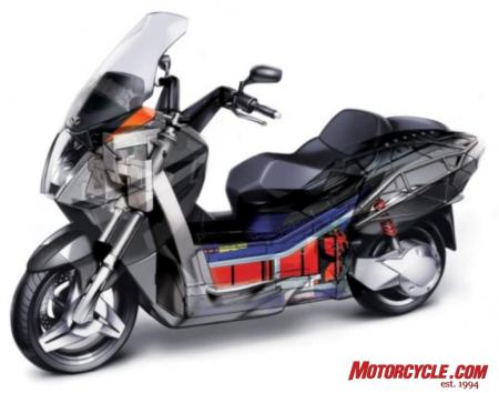 07 vectrix electric scooter cutaway