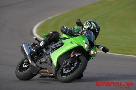2008 kawasaki zx10r green action