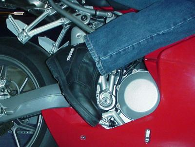 Boot Ducati Closeup