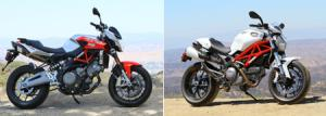Ducati Monster 796 vs. Aprilia Shiver IMG 0001