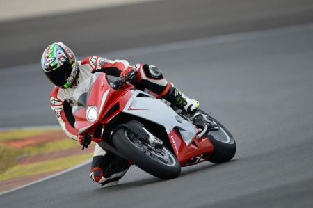 2013 MV Agusta F4 Action Cornering