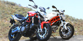 2011 Aprilia Shiver vs. 2011 Ducati Monster 796 Shootout