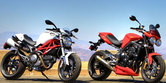 2010 Triumph Street Triple R vs. 2011 Ducati Monster 796 Shootout