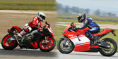 Italian V-Four Literbike Shootout: Aprilia RSV4 Factory vs. Ducati Desmosedici [Video]