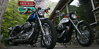 Shootout: 2010 Honda Shadow RS vs. 2010 Harley-Davidson 883 Low