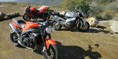 2009 Streetfighters Shootout: Aprilia Tuono 1000 R, Buell 1125CR, Triumph Speed ...
