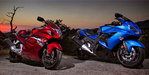 2012 Kawasaki ZX-14R vs. 2012 Suzuki Hayabusa LE - Video