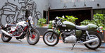 2013 Moto Guzzi V7 Racer vs. 2013 Triumph Thruxton - Video