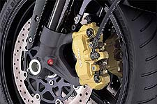 Radial brakes, stock, on the GSX-R1000.