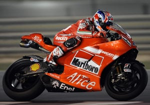 Casey Stoner has won the previous two MotoGP races at Qatar