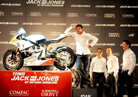 Even actor Antonio Banderas has his own Moto2 entry, Team Jack & Jones
