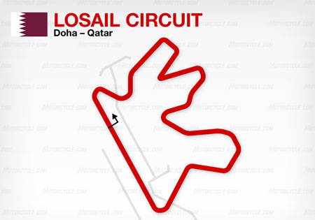 Last year's Qatar race was postponed due to rain. Let's hope that doesn't happen again this year.
