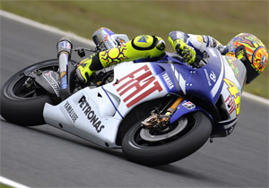 Valentino Rossi led all riders in free practice at Motegi.
