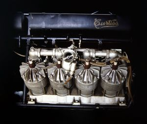 With twice the displacement and 2.6 times more cylinders than Triumph's new Rocket III, Curtiss' 4,000cc, 40HP, air-cooled, V-8 was designed and built from scratch... in 1906