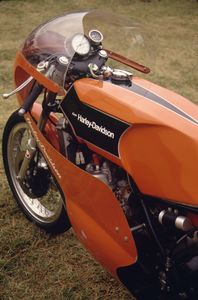 Ok, so it's not a single, however this story concerns HD's afiliation with Aermacchi, which started with four-stroke singles and culminated in this World Champion 250 2-stroke twin.