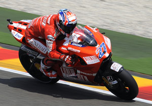 Casey Stoner will try to earn Ducati Marlboro their first MotoGP win on their home circuit.