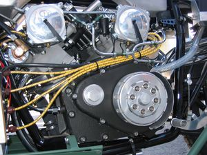 "When Jeff first saw his Guzzi V-8, he says: ""It was like opening up the back of a fine pocket watch and seeing the internal mechanism, all these wheels moving, some clockwise, some counterclockwise. I visualized all the intricacies of this jewel-like engine, the eight pistons, the eight connecting rods, the eight spark plugs, the sixteen valves and so on..."""