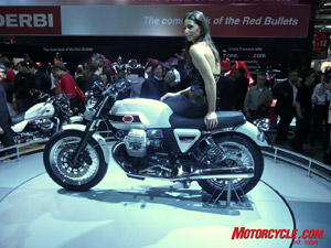Retro-cool is Guzzi�s new V7. Retro without the cool is the modest 50 horsepower.