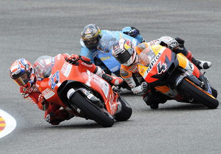 Casey Stoner earns Ducati Marlboro its first win at Mugello.