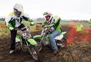 Magnificently Muddy Mini-Moto sure is one hell of an icebreaker!