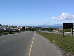 This is the stretch of Skyline Boulevard in Daly City where Julius Long was killed.