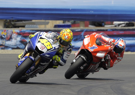 Last year's Laguna Seca duel between Valentino Rossi and Casey Stoner may have been the turning point of the 2008 season.