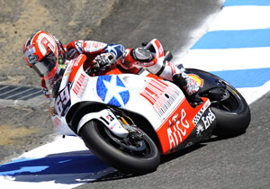Nicky Hayden, in special USGP livery, finished a season-best fifth.