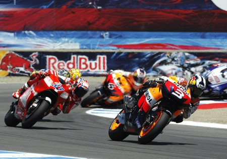 Dani Pedrosa earned Honda its first MotoGP win since June 8, 2008 at Catalunya.