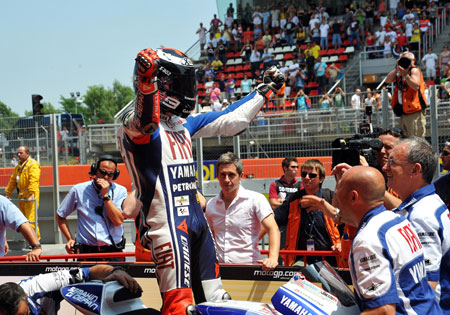 In Valentino Rossi's absence, Jorge Lorenzo has taken a stranglehold on the 2010 MotoGP Championship.
