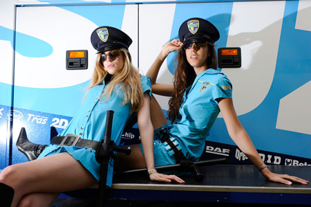 Alvaro Bautista and Loris Capirossi both made a rare appearance in the top seven at Catalunya. We hope they do it again so we'll have an excuse to run more pictures of the Rizla Suzuki girls.