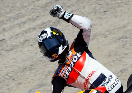 Dani Pedrosa was victorious at Laguna Seca last year. Based on recent form, he may be a threat to repeat.