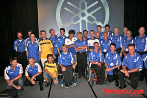 Some of the fastest (and coolest) racers the world has ever seen were gathered at Yamaha's fabulous Night of Champions.