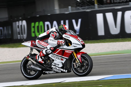 Ben Spies and teammate Jorge Lorenzo will again sport Yamaha's red and white 50th anniversary livery at Indianapolis.