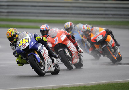 Valentino Rossi is racing to cement the 2009 championship but many other riders are racing for 2010 contracts.