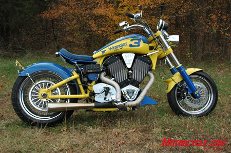 This Victory-based bike, called The Wrangler, was made in honor of Dale Earnhardt Sr.