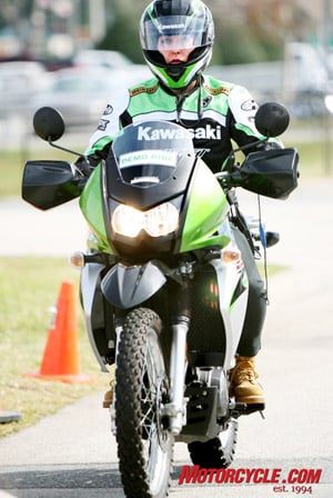 Having ridden on the street since she was 15, Wendy Varner has worked as a ride leader for the Kawasaki demo fleet for the past eight years, riding all the motorcycles in the Kawasaki line-up.