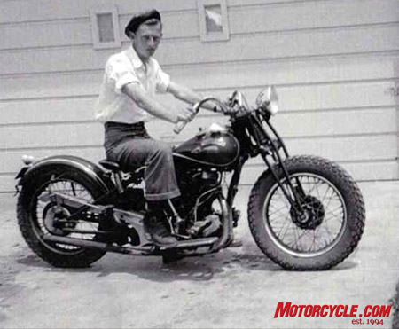 The original Jack Lilly on his original Crocker.