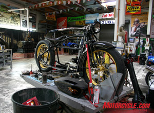 Another work in progress soon to be counted among the tens of dozens of restored, and more importantly, running bikes.