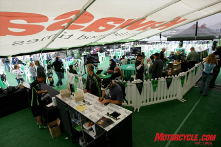 We partied like ROKstars at the Riders Of Kawasaki hospitality suite.